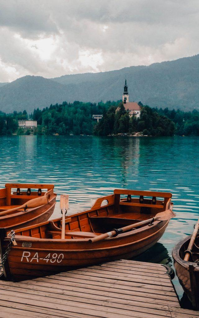 Boats at Lake Bled