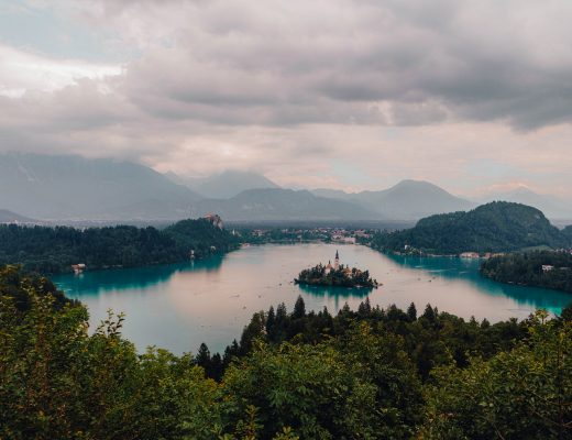 Views over Lake Bled from Ojstrica Viewpoint