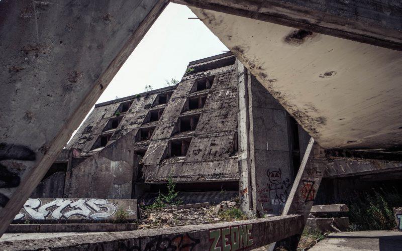 Sarajevo Abandoned Olympic Hotel