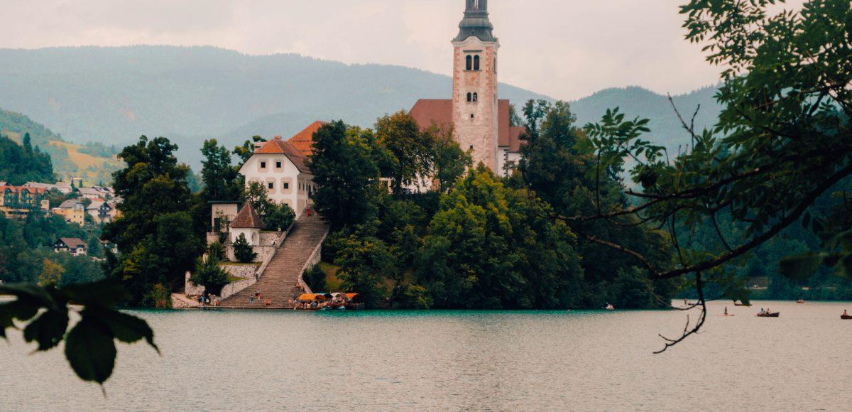 The famous Lake Bled, Slovenia