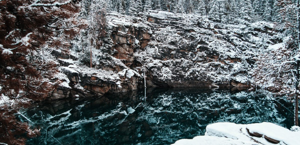Horseshoe Lake in the snow