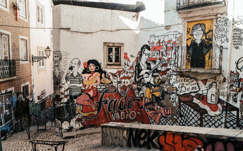 Mouraria Fado Painting, Lisbon