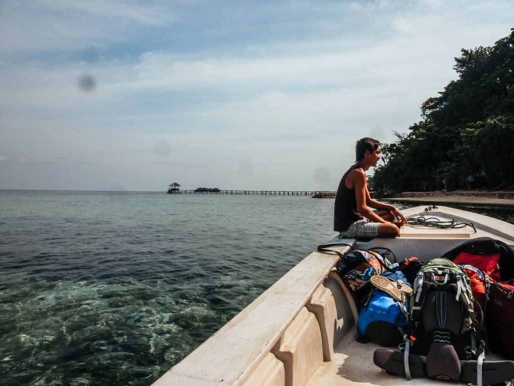 Little transfer boat to the Togean Islands, Sulawesi