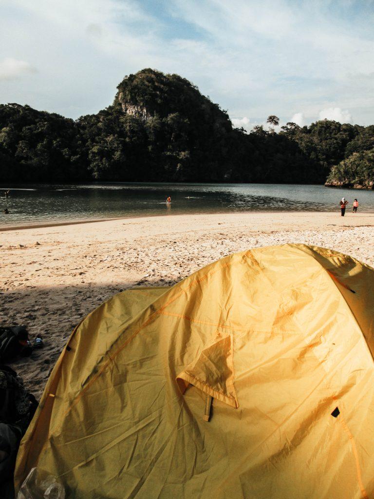 Camping at Sempu Island, Indonesia