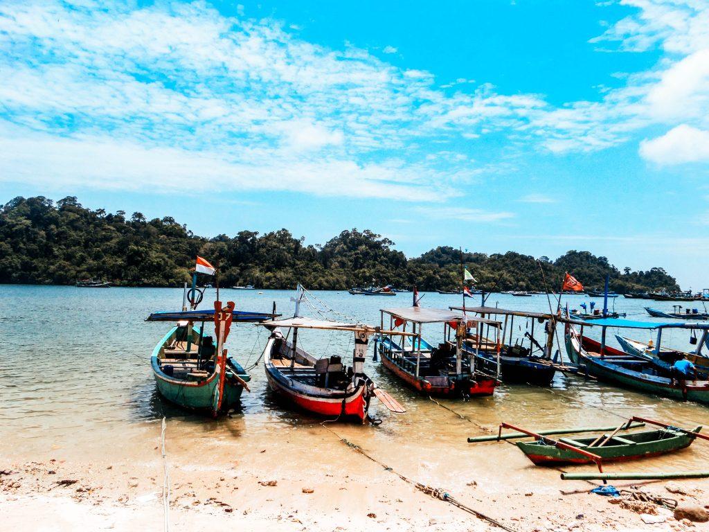 Sempu Island harbour, Indonesia