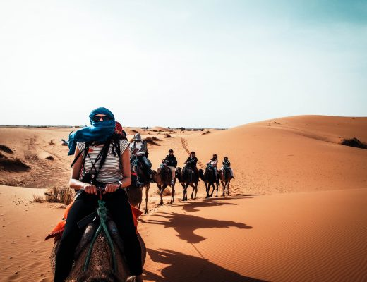 Camelride, Morocco, Sahara