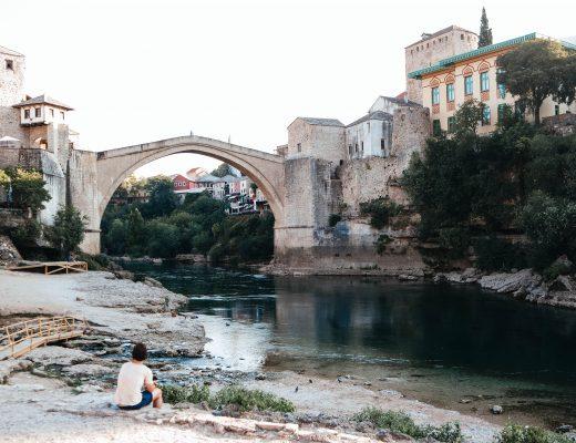 The famous bridge in Mostar, Bosnia