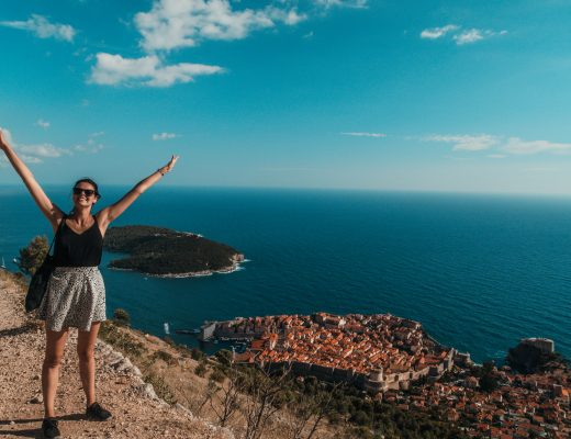 Climbing Mount Srd, Dubrovnik, Croatia