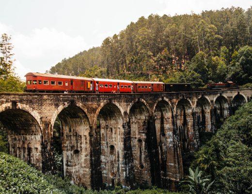 Train Nine Arch Bridge, Sri Lanka