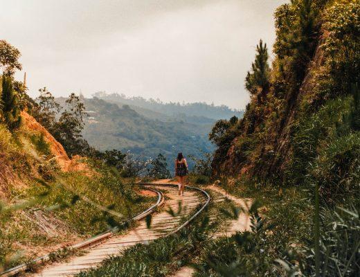 Train rails around Ella, Sri Lanka