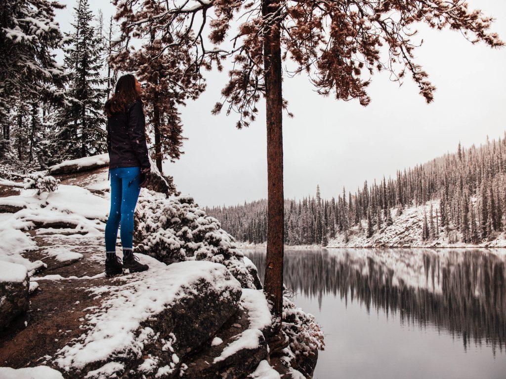 Hike Horseshoe Lake, Jasper, Canada