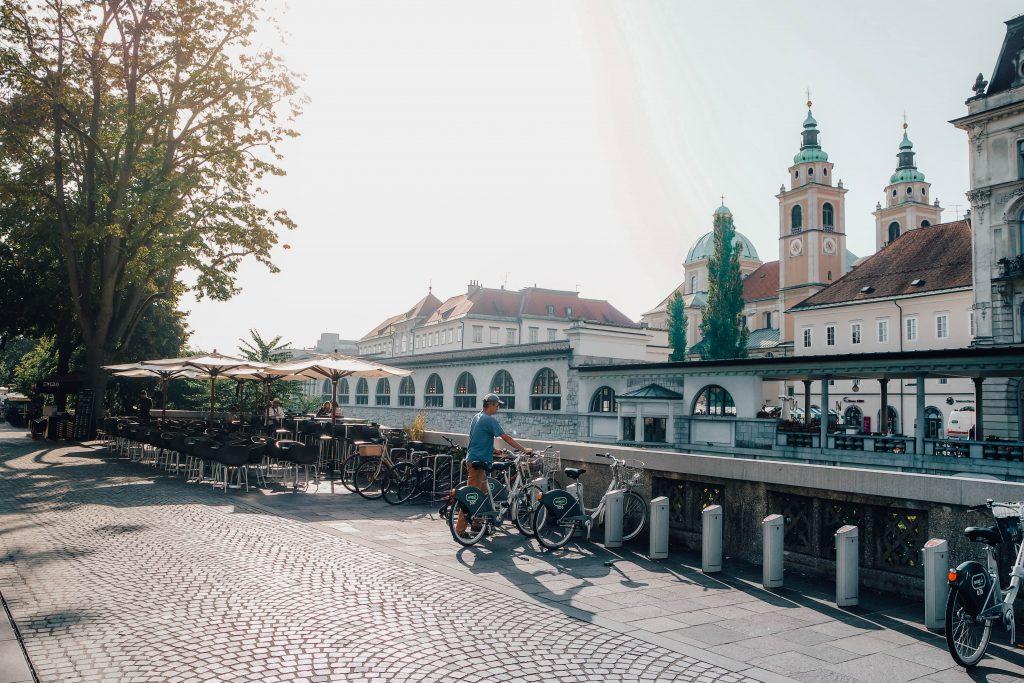 Ljubljana Cafe along the Canal