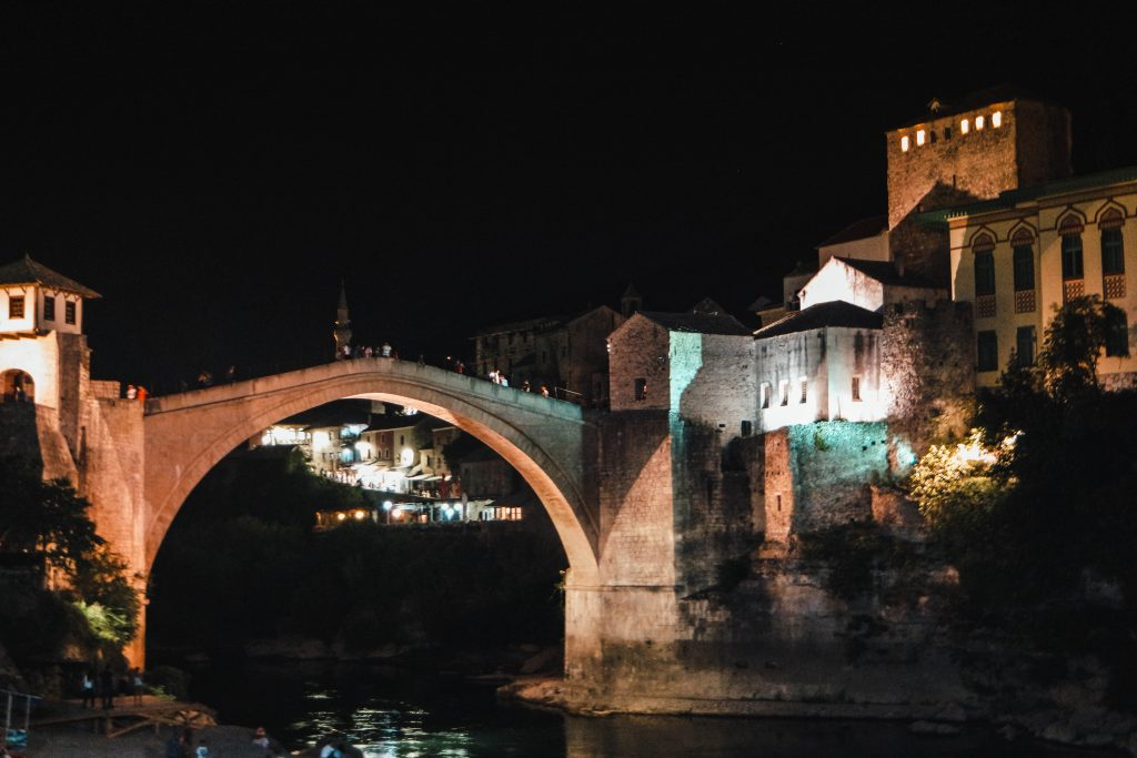 Stari Most, Mostar Bridge by night, Travel Guide