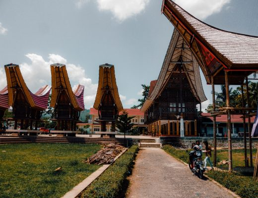 Traditional houses in Rantepao, Sulawesi