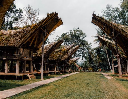 Tongkonan houses in Tana Toraja, Sulawesi, Indonesia