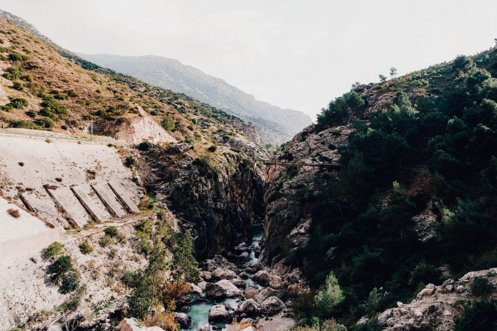 Mountain views at the Views from the Caminito del Rey