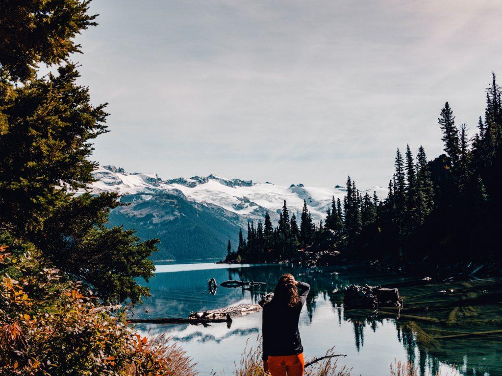 Hiking towards Garibaldi Lake, British Columbia, Canada