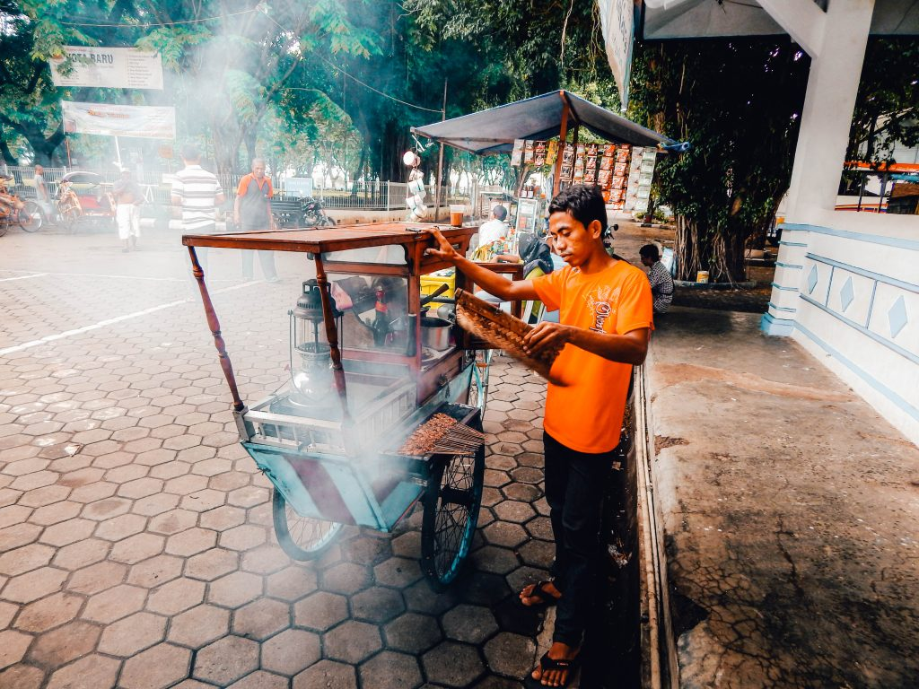 Satay in the harbour of Jepara
