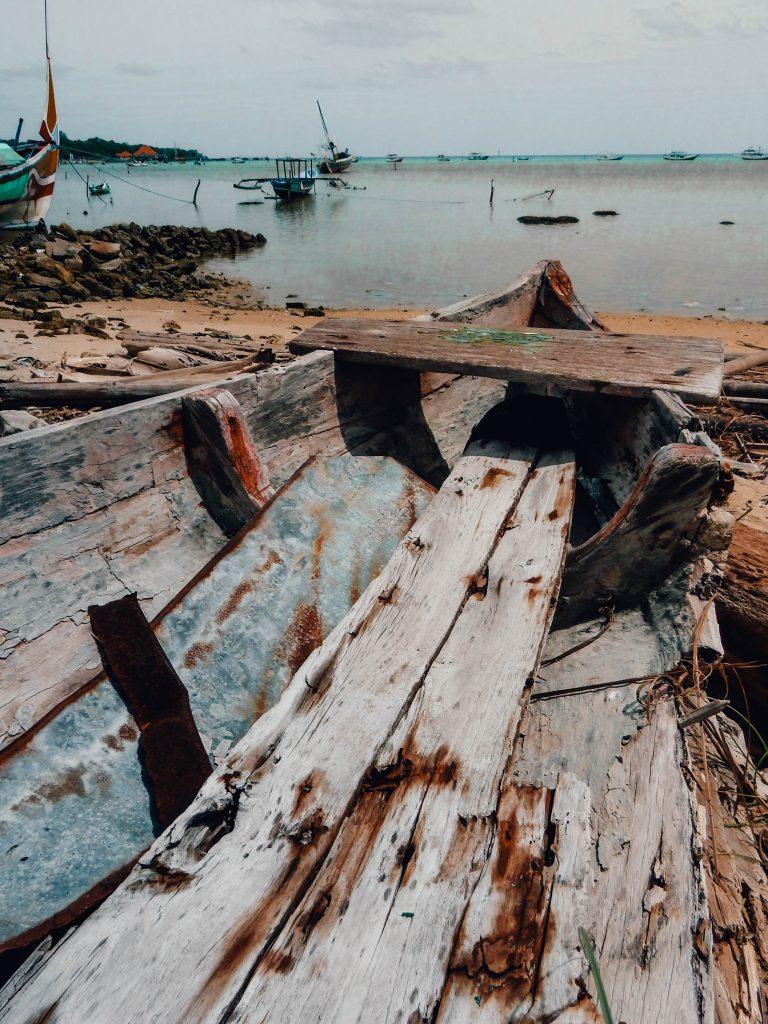 Broken boat in Karimunjawa