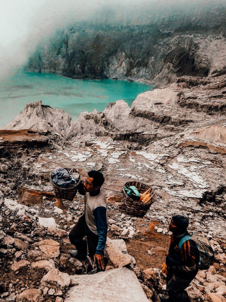 Climbing Mount Ijen, Kawah Ijen - Java, Indonesia