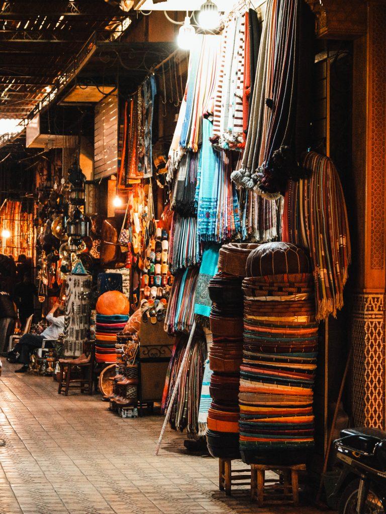 Souks in Marrakech' Medina, Morocco