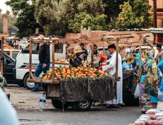 Local market in Marrakech