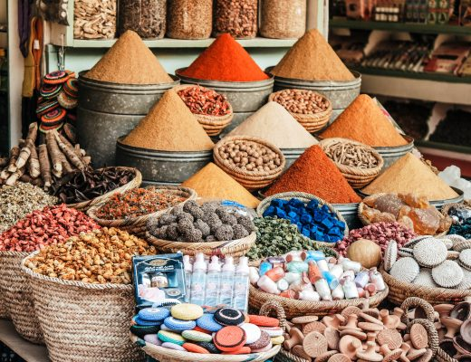 Souks and spices in Marrakech, Morocco