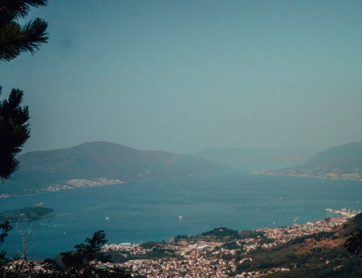 View from Vrmac Ridge, Montenegro