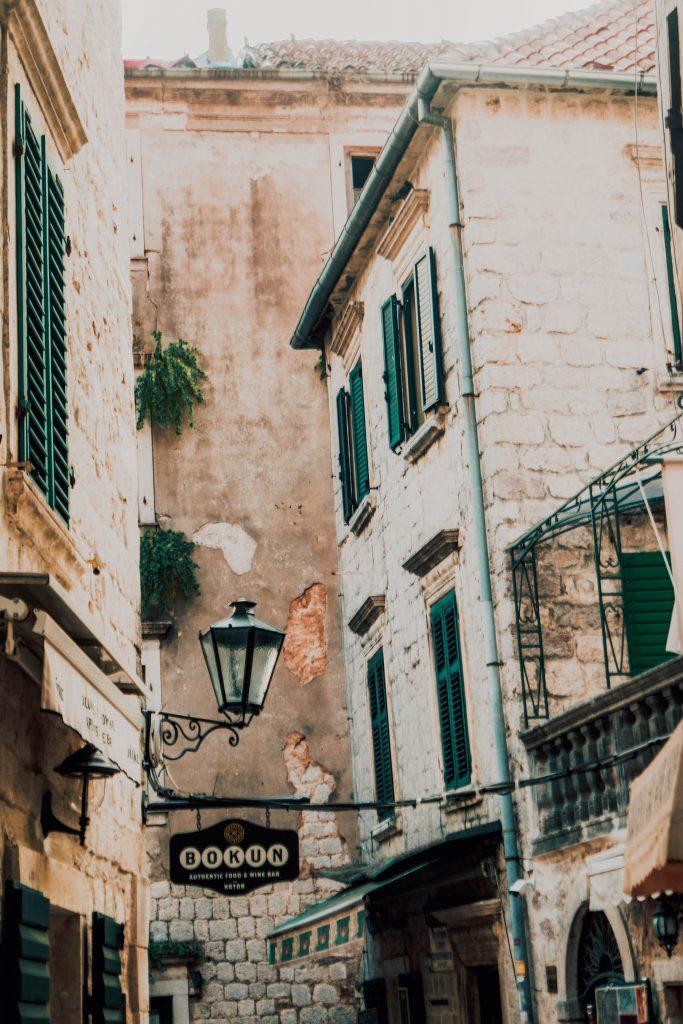 Kotor City Views - Green Windows
