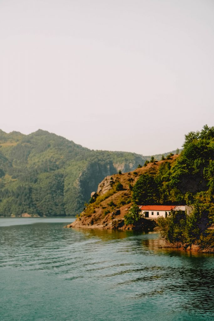 House at Lake Koman, Albania