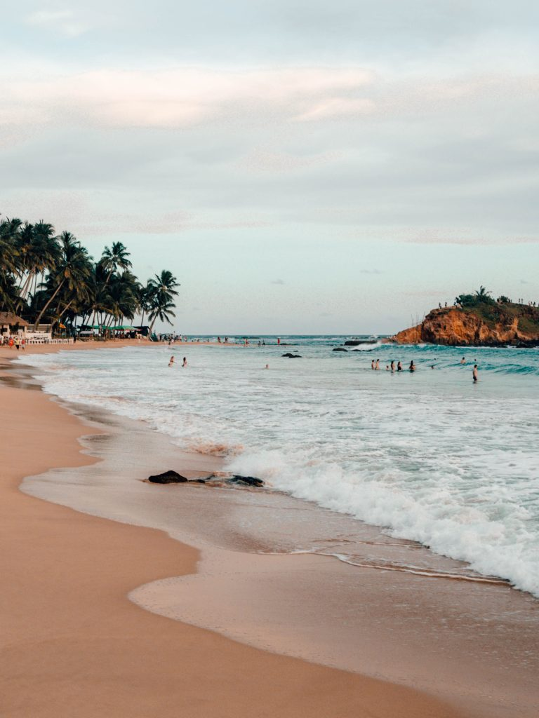 Mirissa Beach, Sri Lanka - View on Parrot Rock