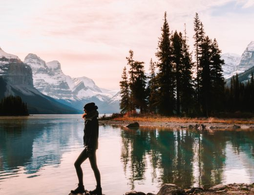 Travel photography from Spirit Island, Canada