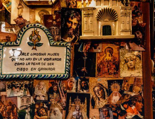 La Tabernaculo, Quirky bar in Granada, Calle Navas, Spain