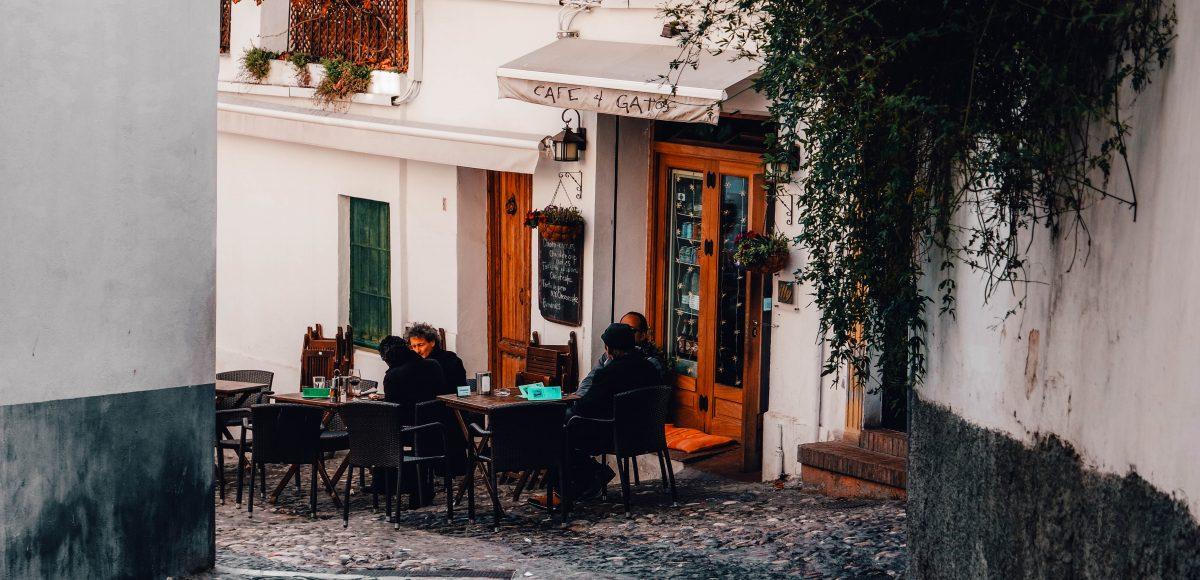 Cafe culture in Granada, Spain