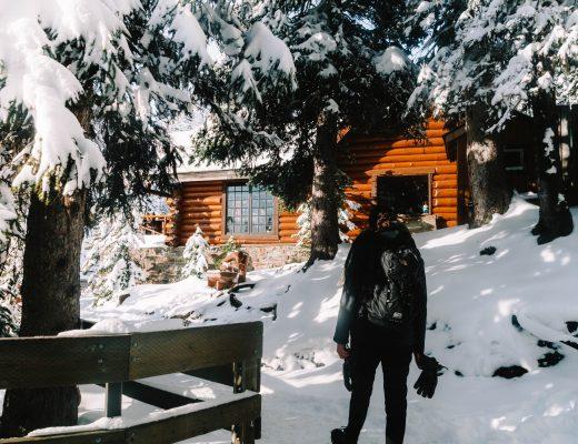 Arrival at Lake Agnes Tea House, Canada