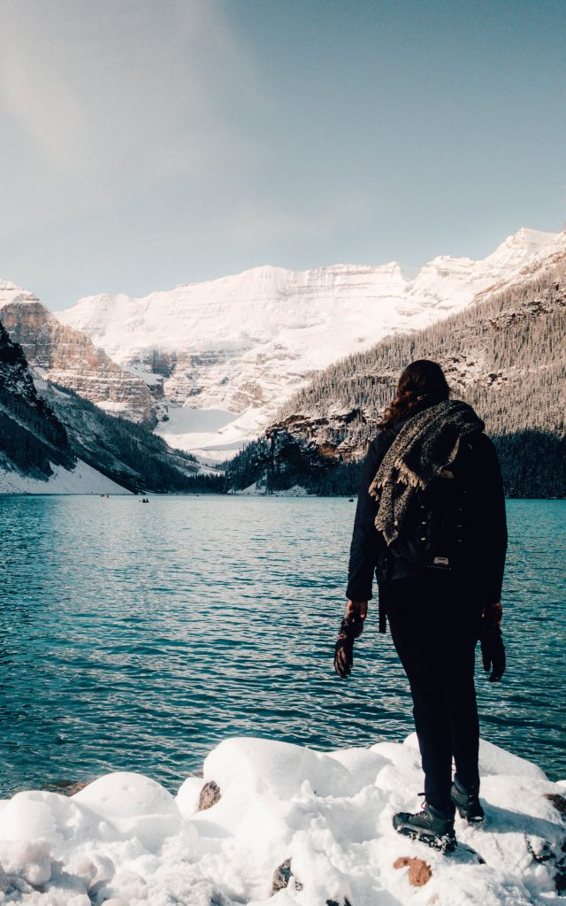 Looking out over Lake Louise, Canada