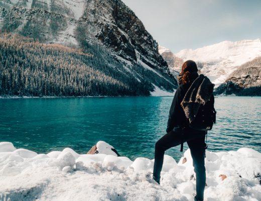 Views on Lake Louise, Rocky Mountains