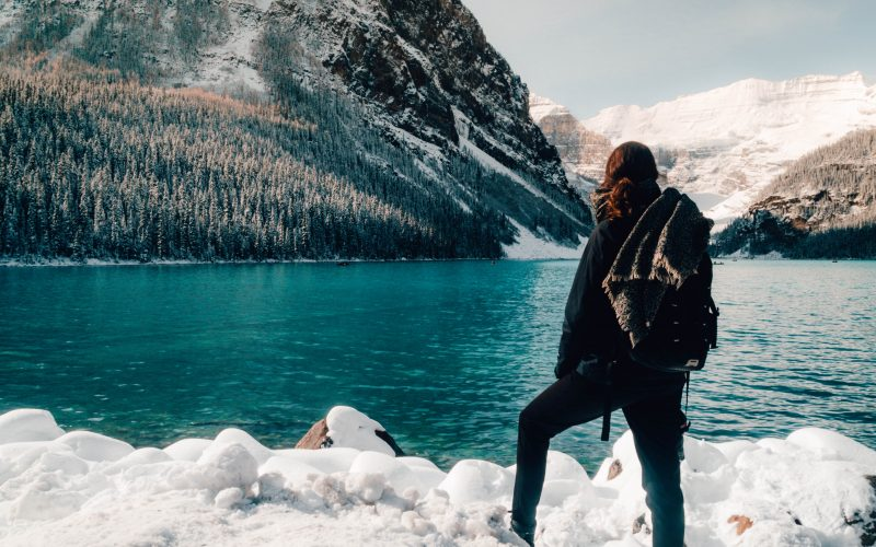 Views on Lake Louise, Rocky Mountains