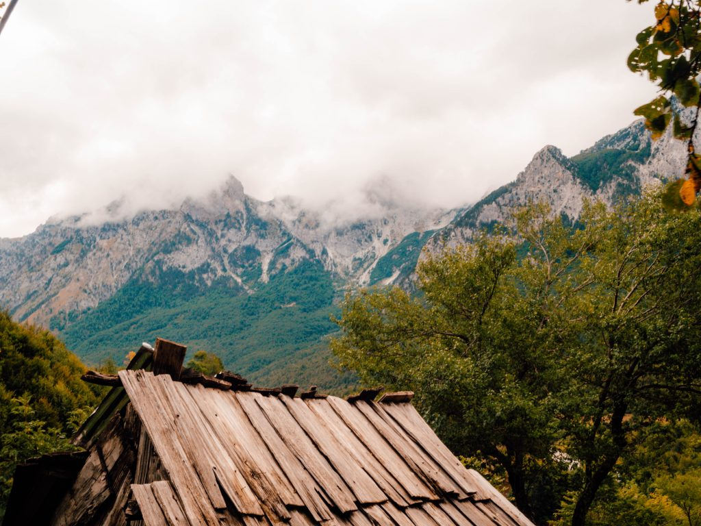 The start of the Valbona to Theth hike