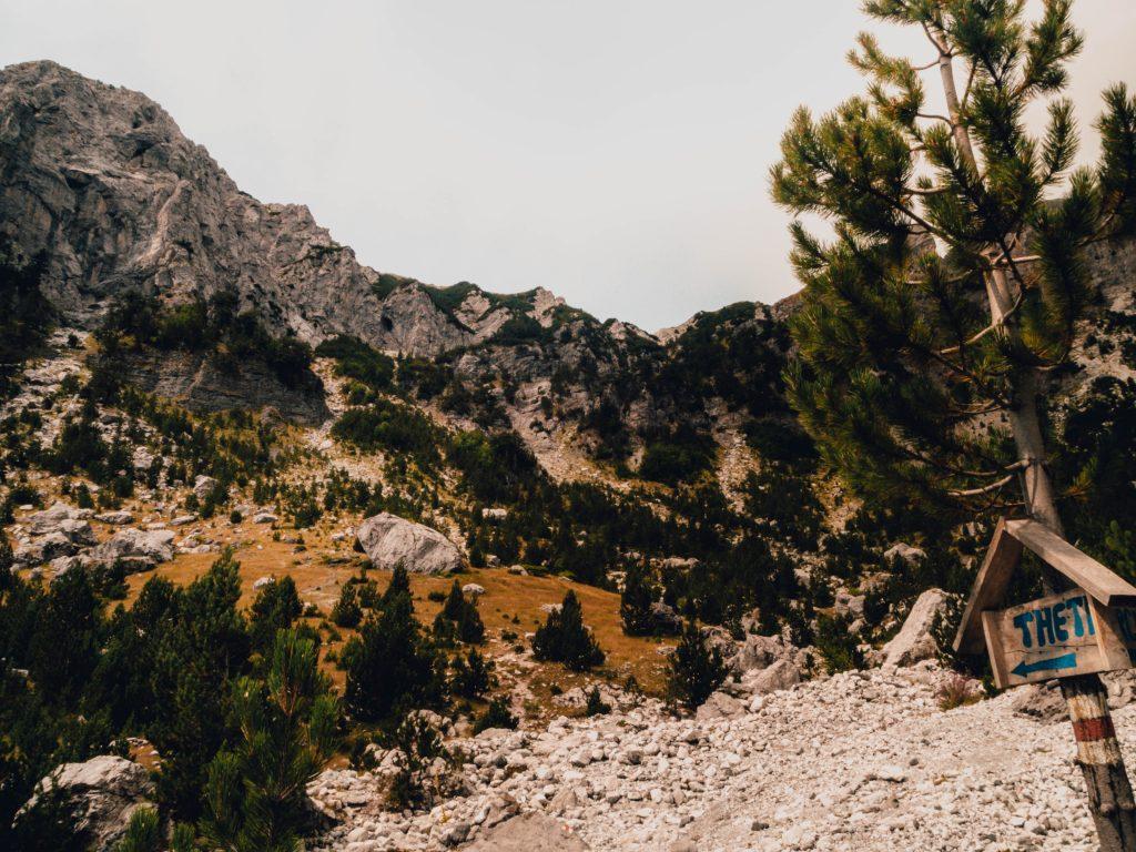 On the way to Theti, Albanian Alps