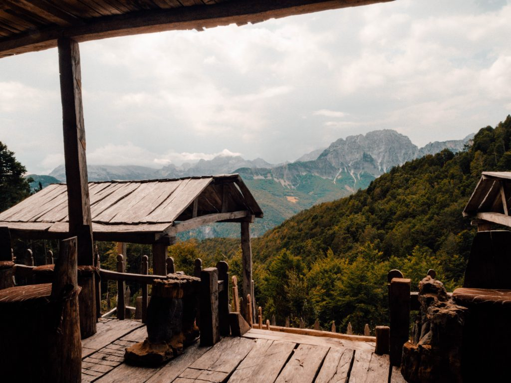 A coffee and lunch place during the Valbona to Theth day hike