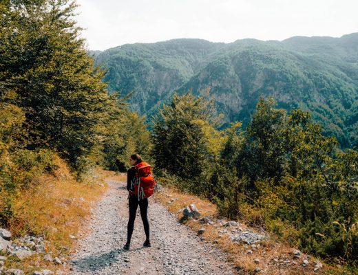 The last descend towards Theth, Albania