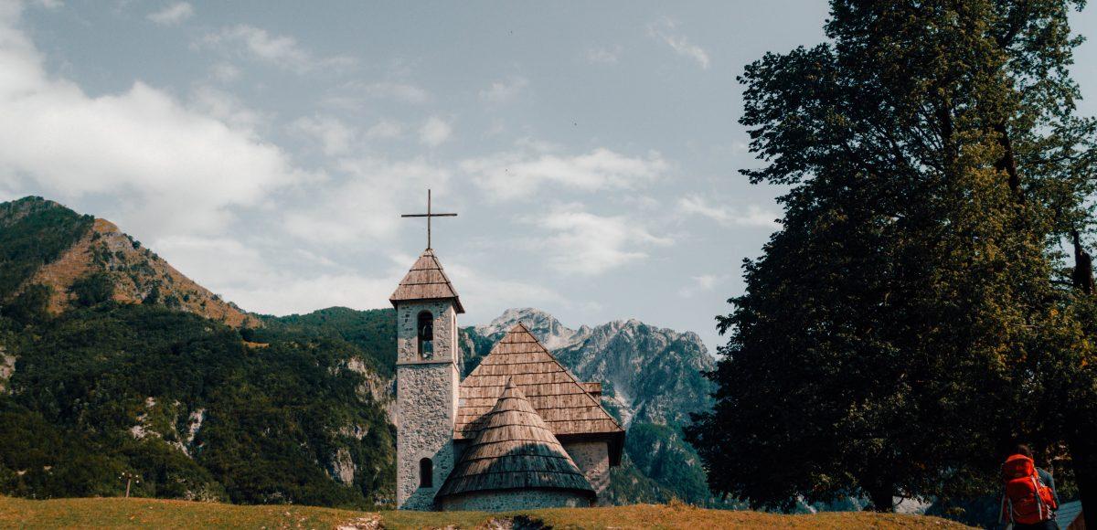 The church of Thethi, Albania