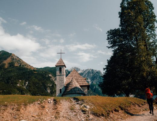 The church of Thethi, Albania