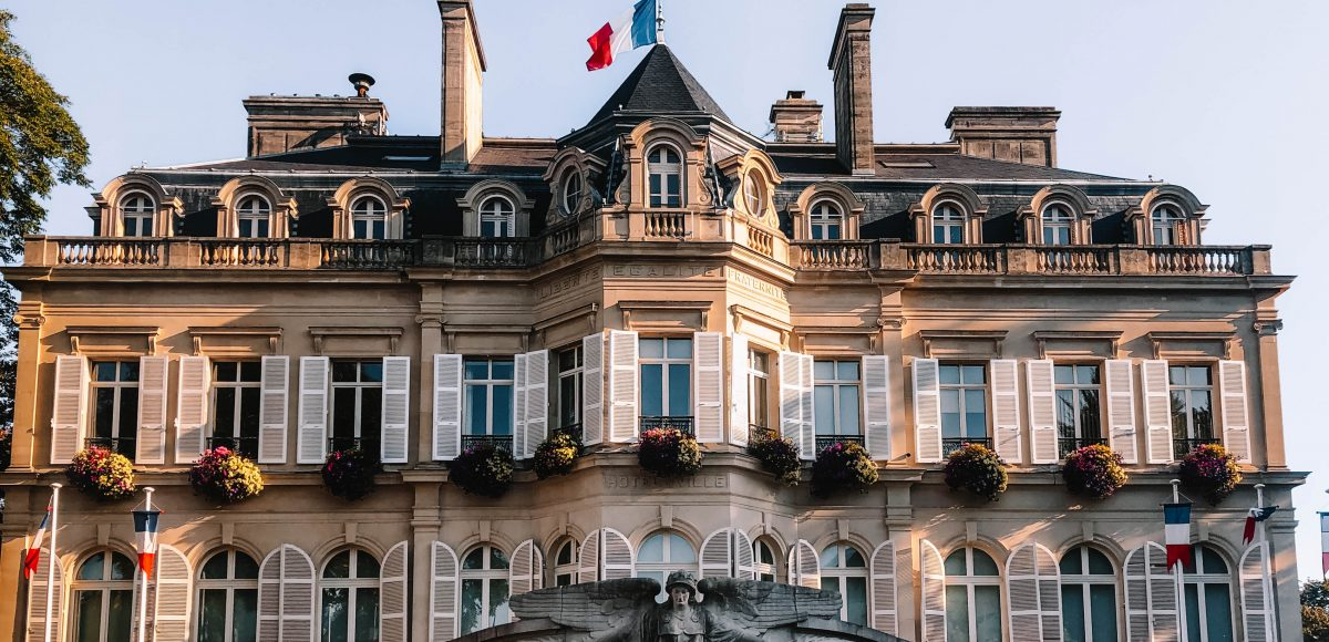 Epernay buildings in the Champagne Region
