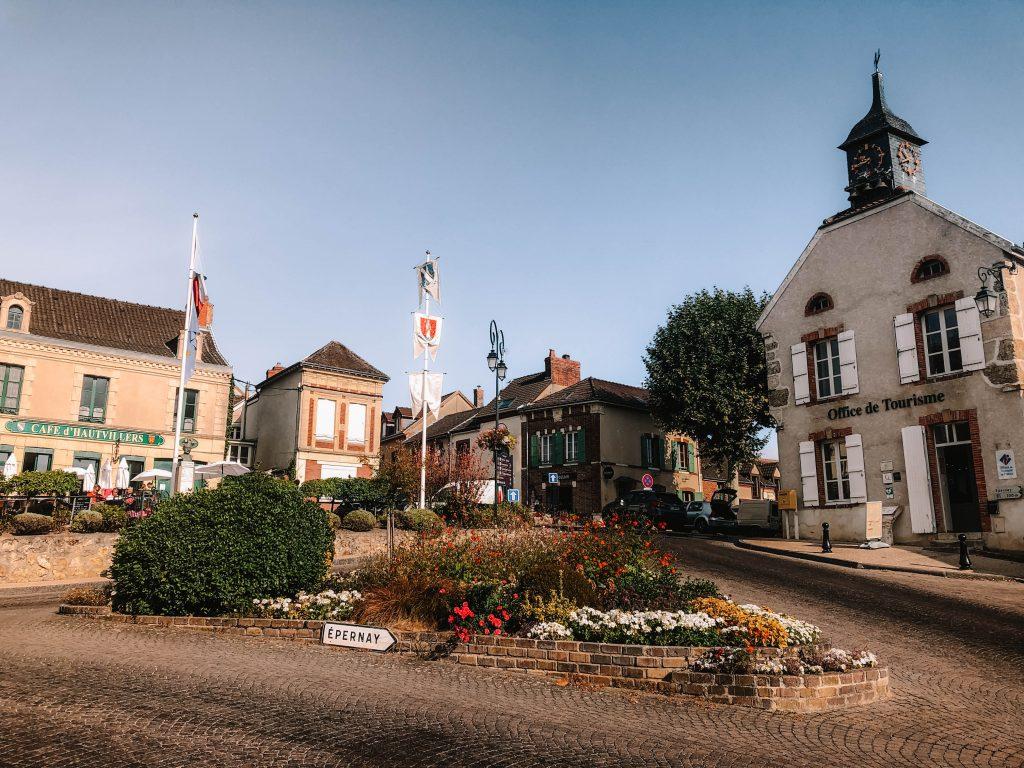 Square in Hautevillers, Champagne Region