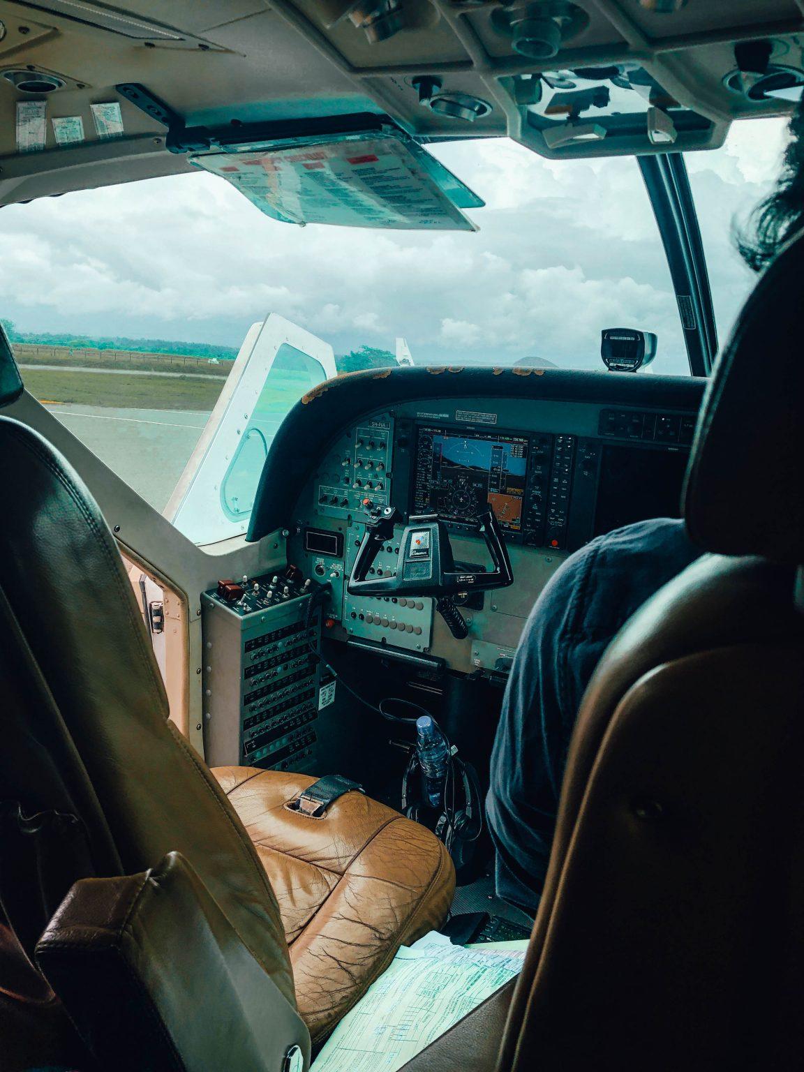 The flight from Arusha to Zanzibar