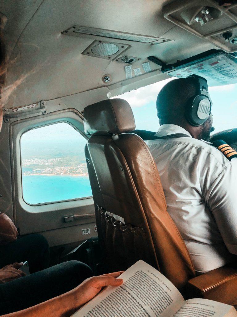 Small airplane heading to Zanzibar, Tanzania