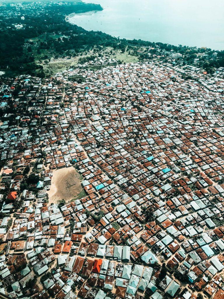 Views on Zanzibar from a Domestic Flight