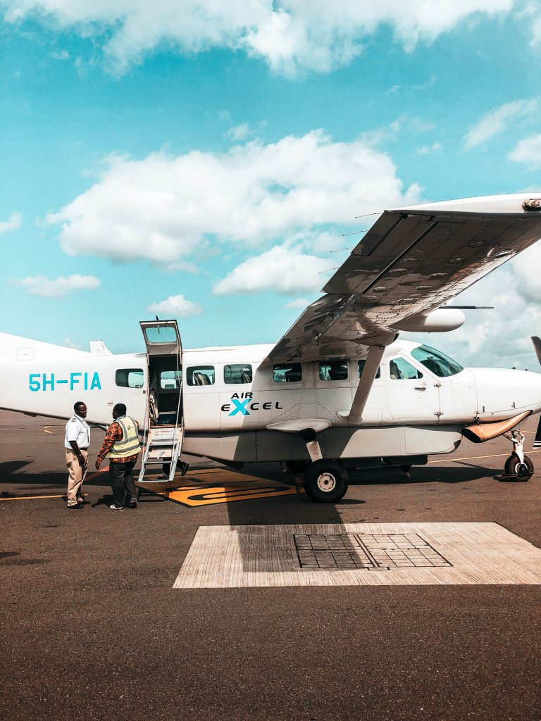 Arrival with a domestic flight in Tanzania